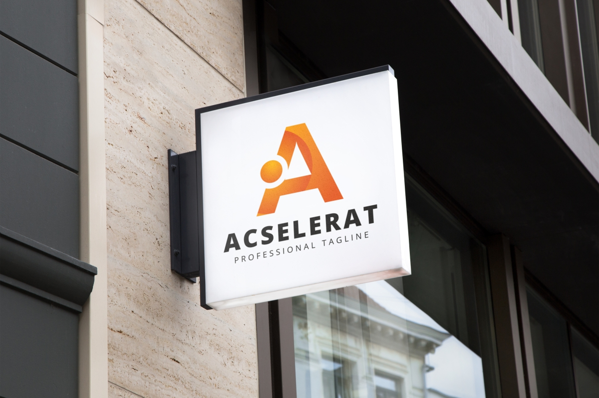 Acselerat A Letter Logo example image 4