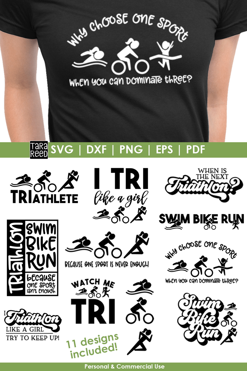 TRI like a Girl - Triathlon SVG and Cut Files for Crafters example image 4