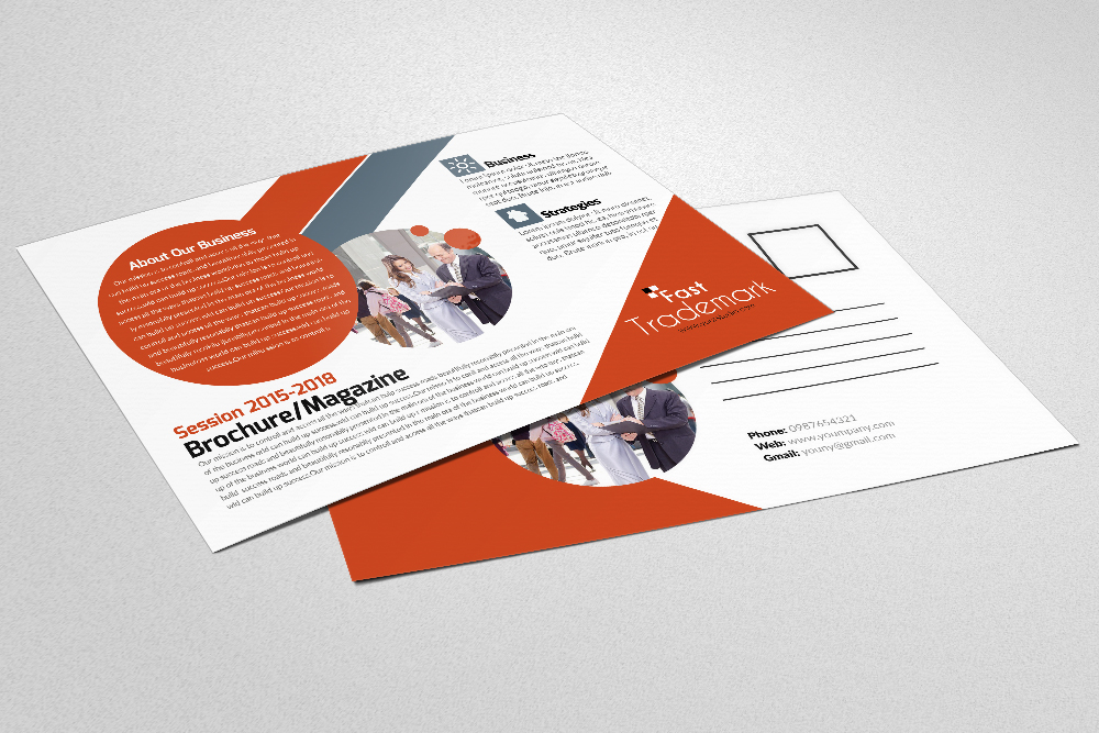 Latest  Business Postcards Templates example image 3