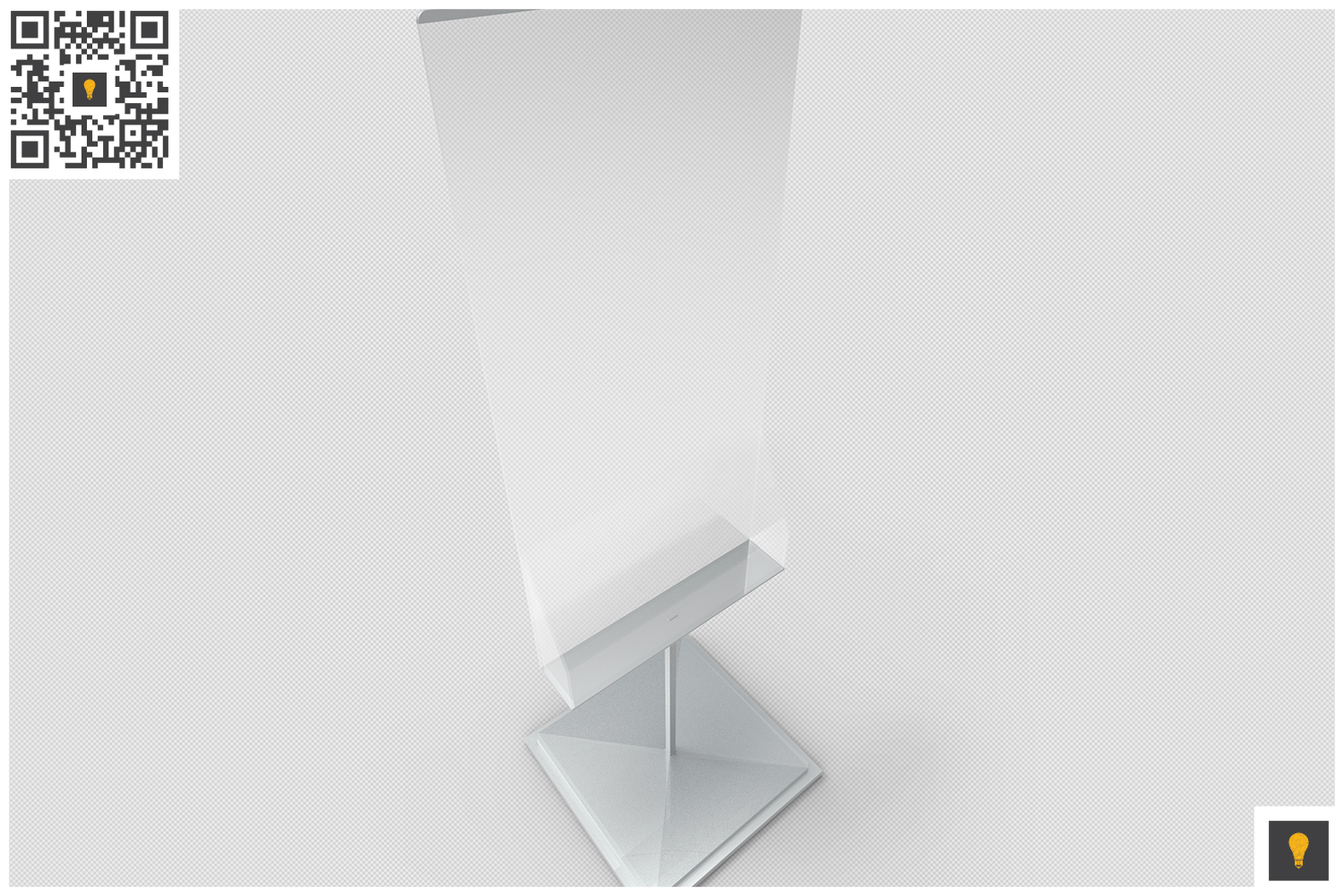 Poster Stand with Rack 3D Render example image 5