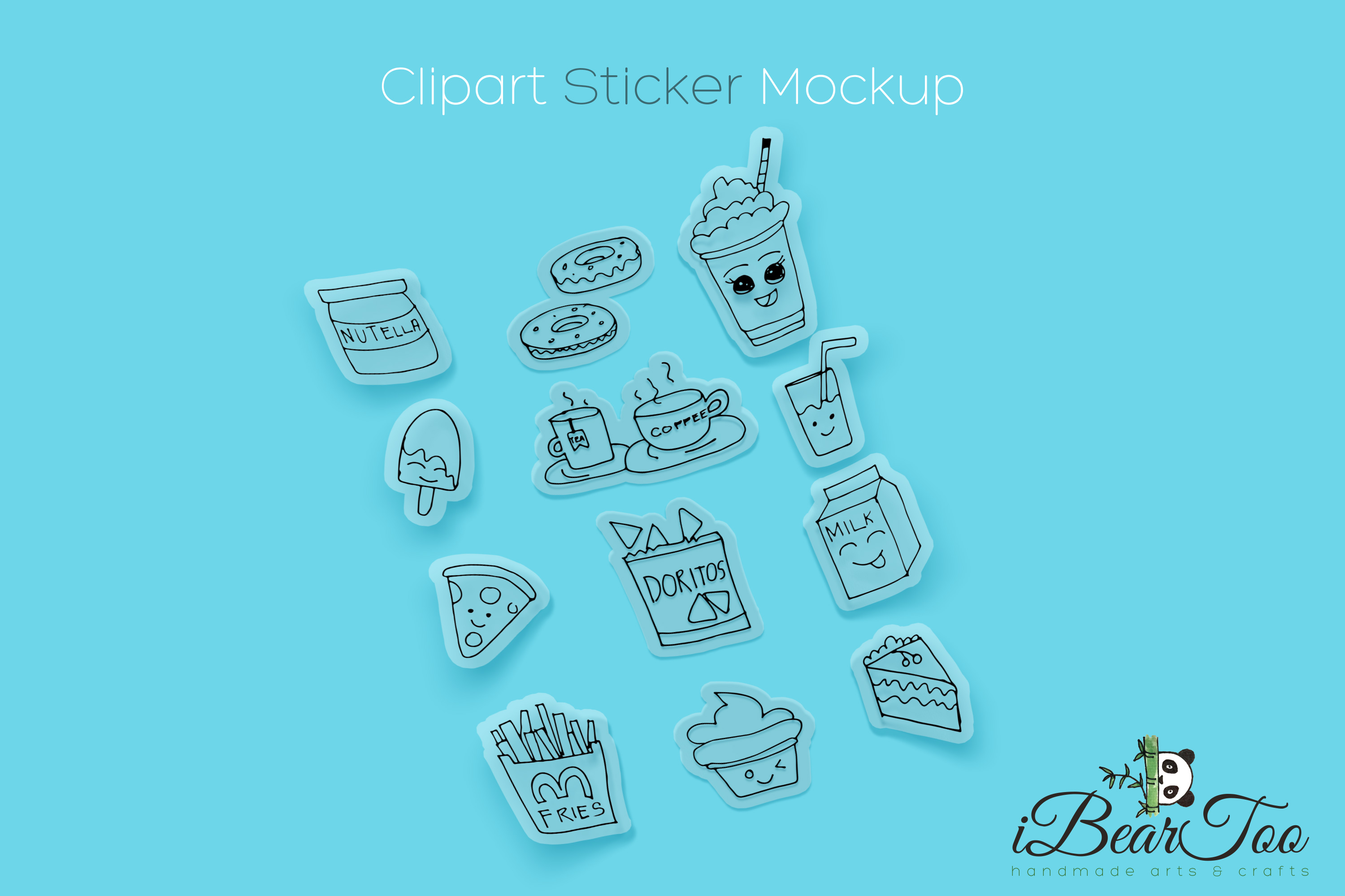Food SVG Bundle Clipart Doodle Drawing Vector Cut Files example image 3