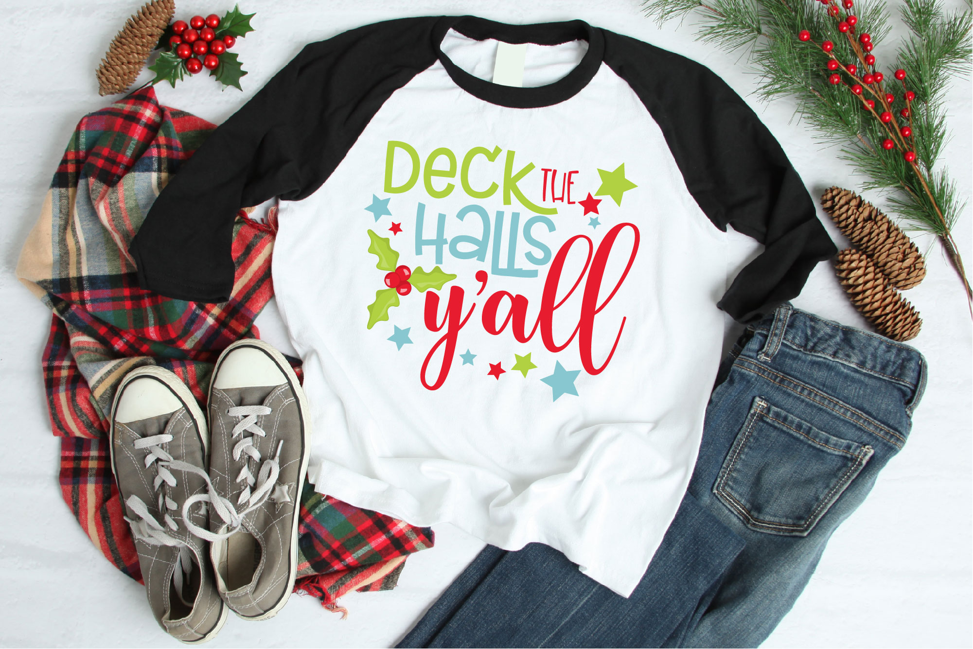 Christmas SVG, Deck The Halls Y'all Sublimation example image 1