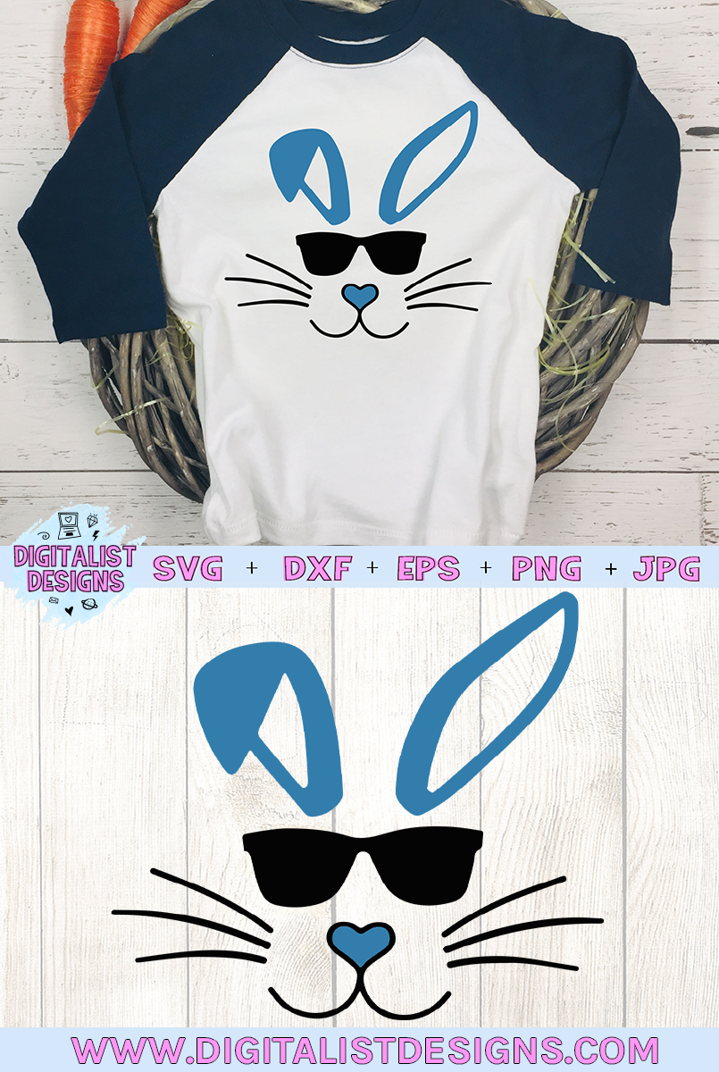 easter svg, bunny svg, easter bunny svg, bunny sunglasses example image 2