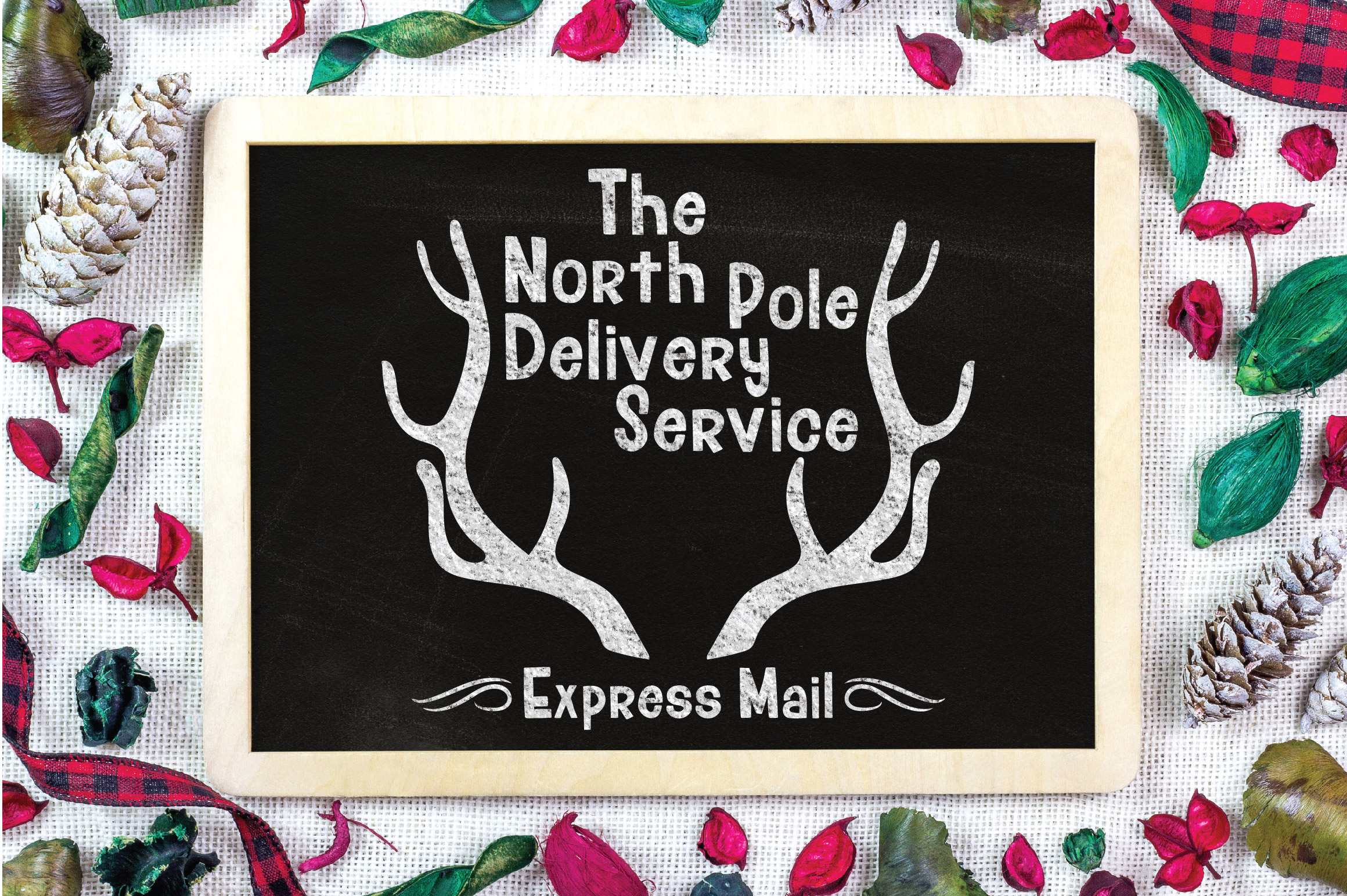 Christmas SVG Cut File - North Pole Delivery Service SVG DXF example image 4