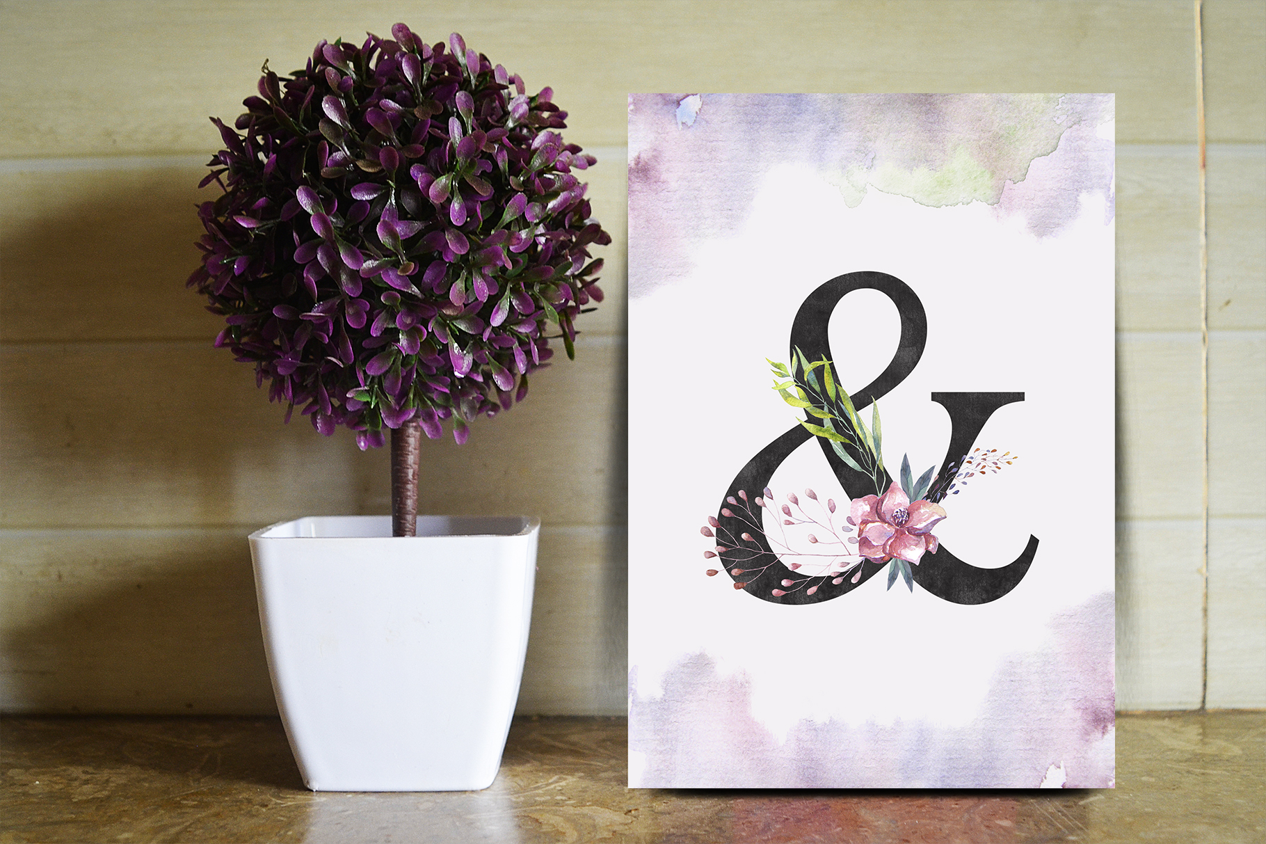 Floral Alphabets Collection. example image 8