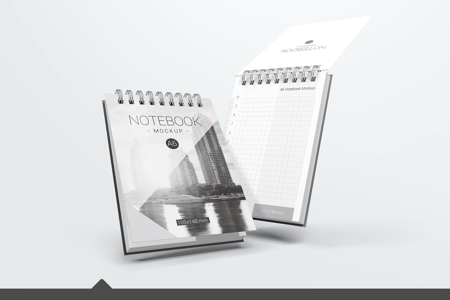 A6 Spiral Notebook Mockups example image 1