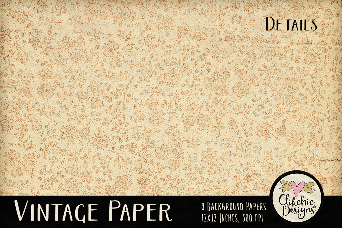 Vintage Paper Backgrounds - Vintage Texture Digital Papers example image 4