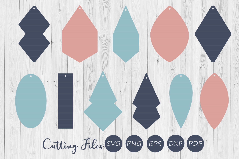 Earring digital designs   SVG cut files   Laser cut   example image 1