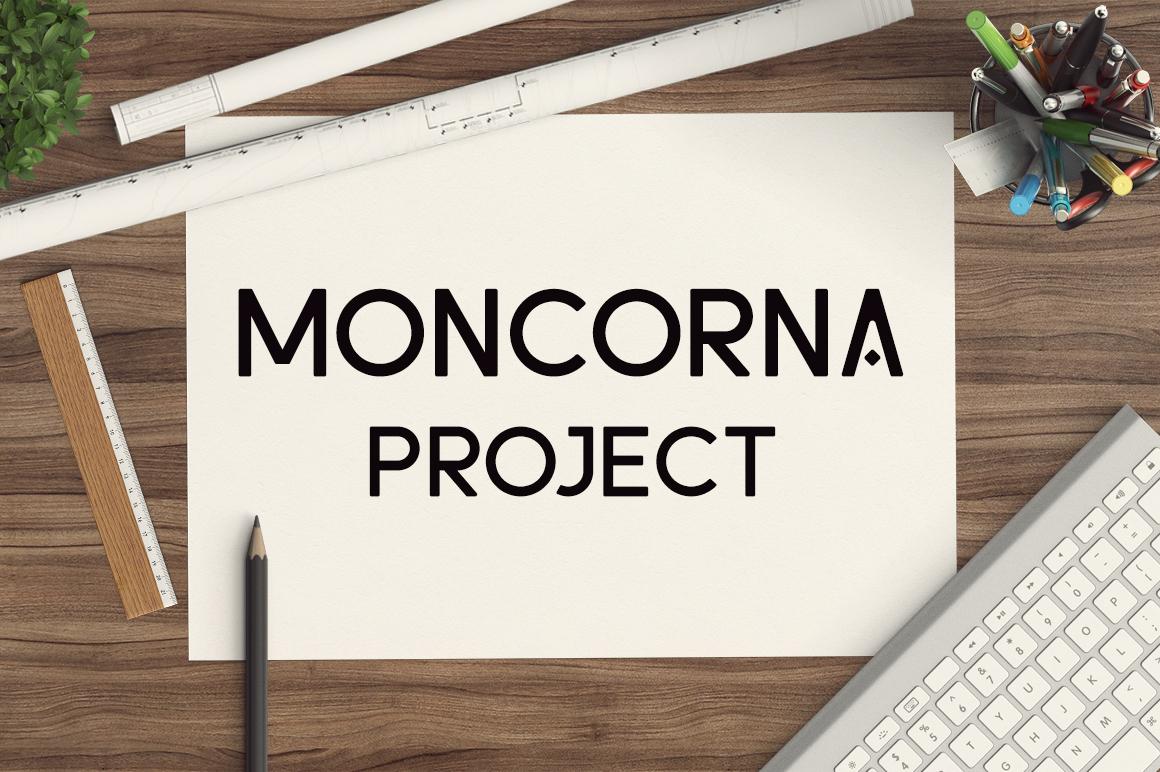 Moncorna Futuristic Sans Serif Font example image 2