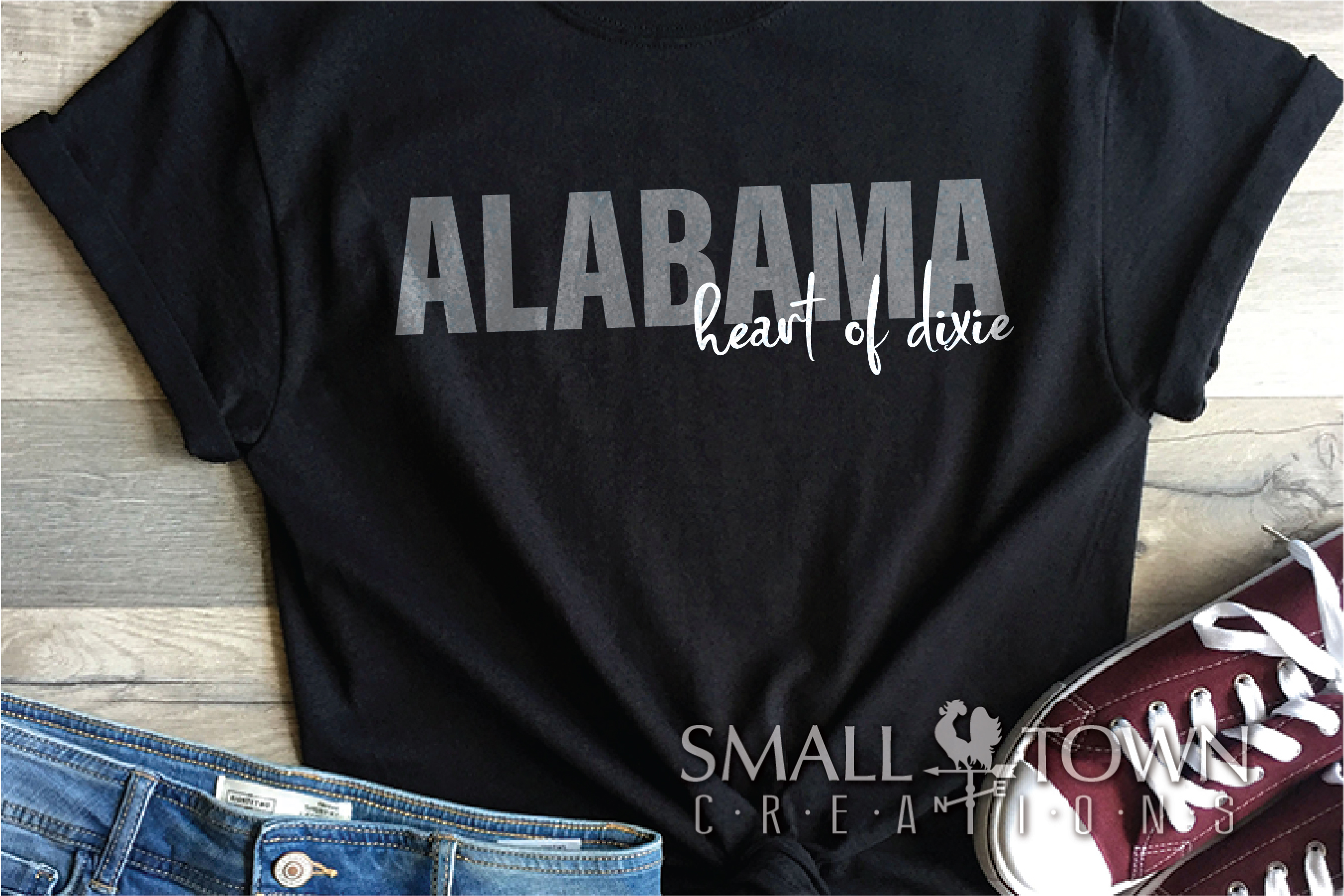 Alabama, Bundle, Heart of Dixie, Logo, PRINT, CUT & DESIGN example image 4