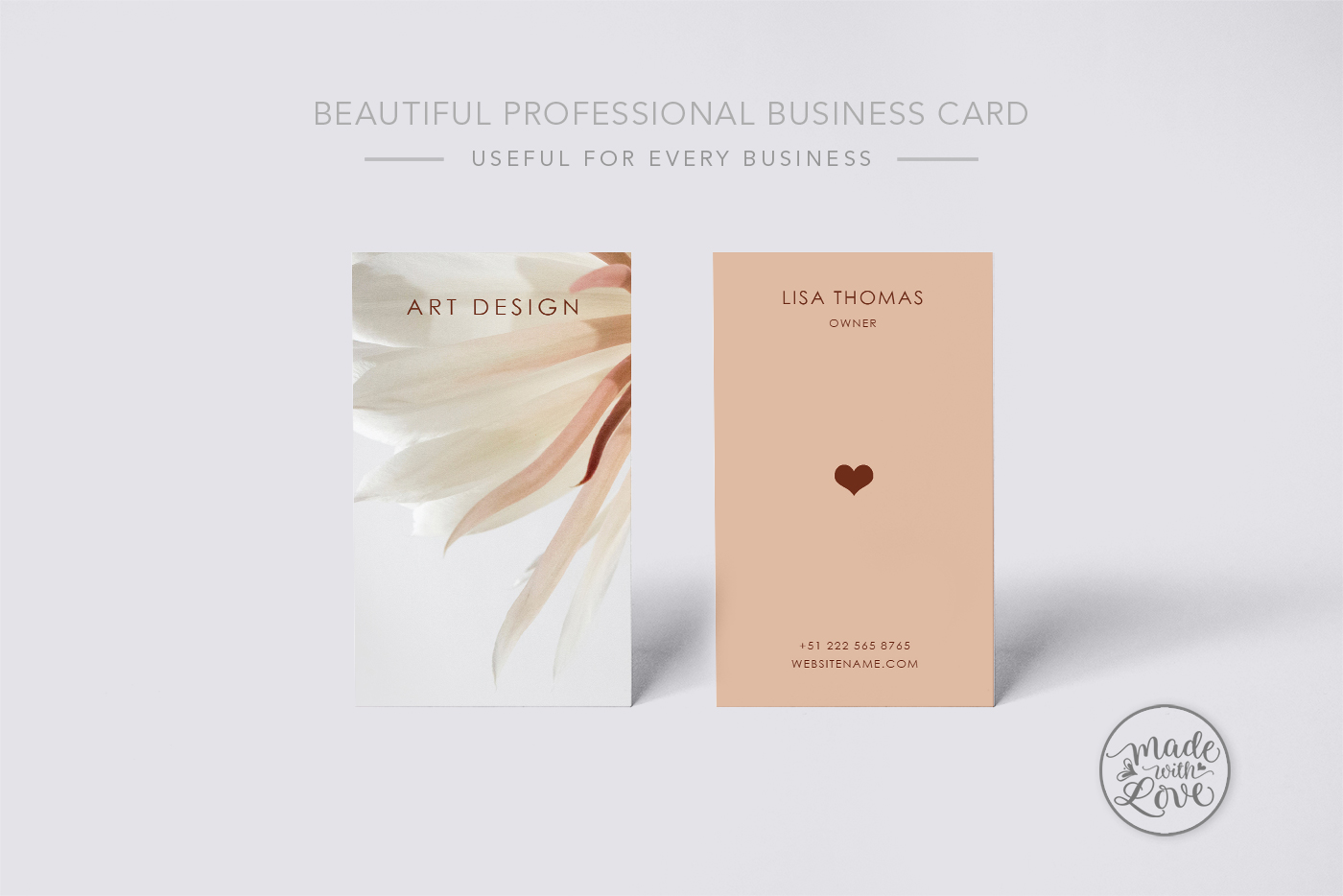 Beautiful creative art business Card example image 2