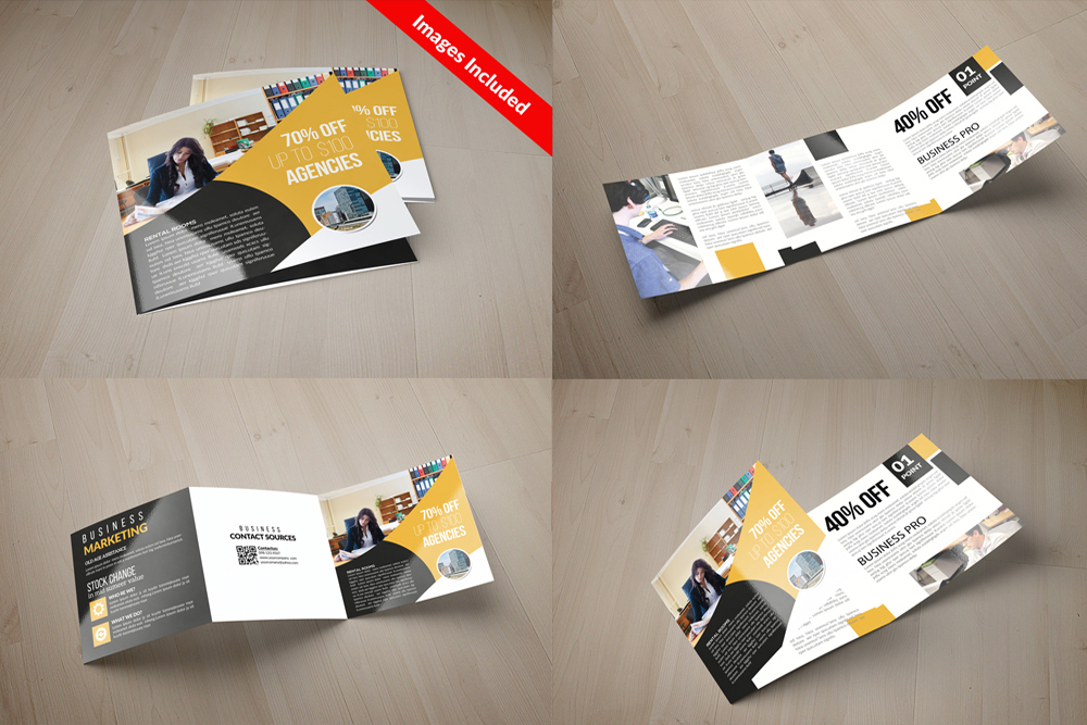 25 Square Trifold Business Brochures Bundle example image 19