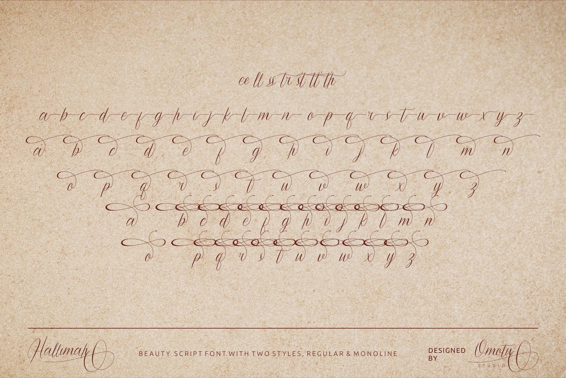 Hallimah Script Font example image 9