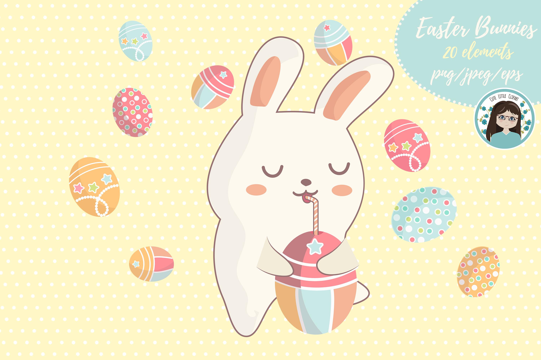 Cute kawaii bunnies example image 4