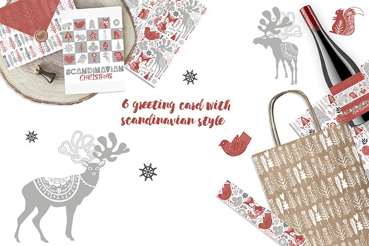 Scandinavian Christmas set example image 3