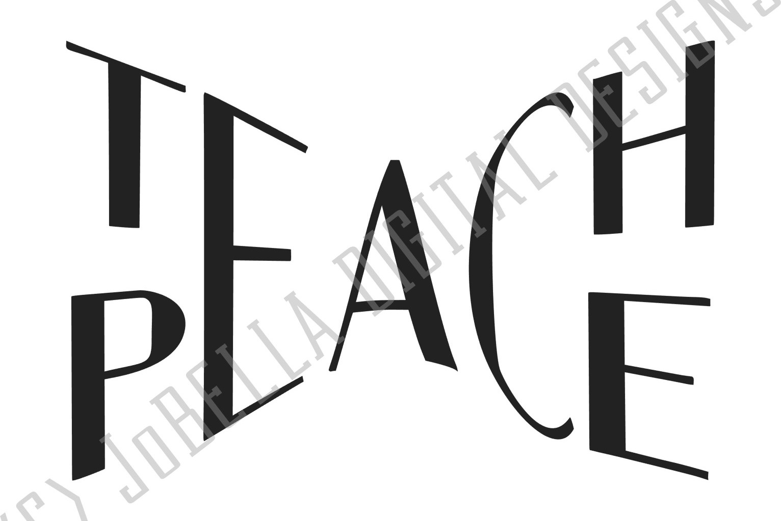 Teach Peace SVG and Printable example image 3