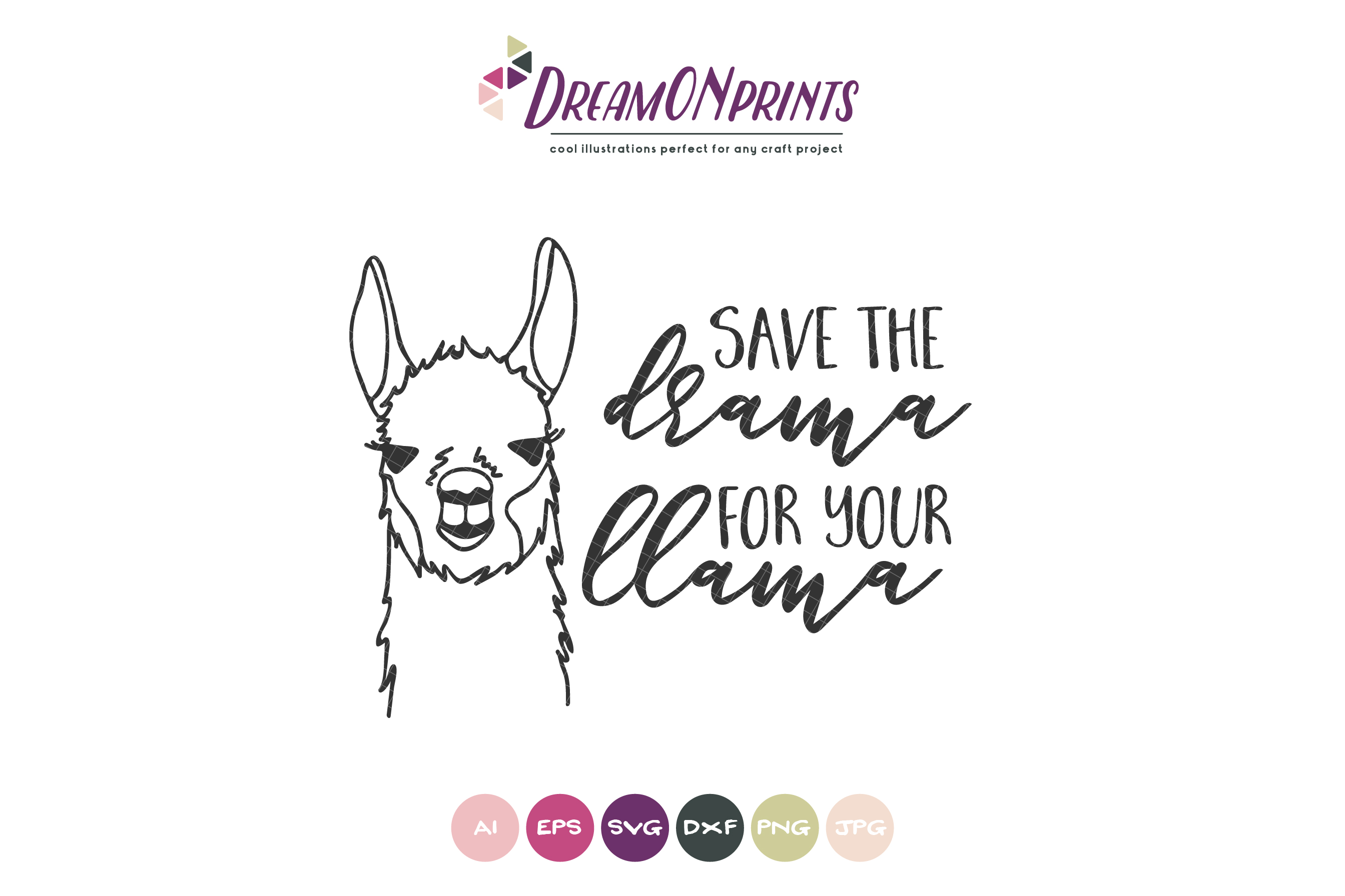Save the Drama for the Llama SVG example image 2