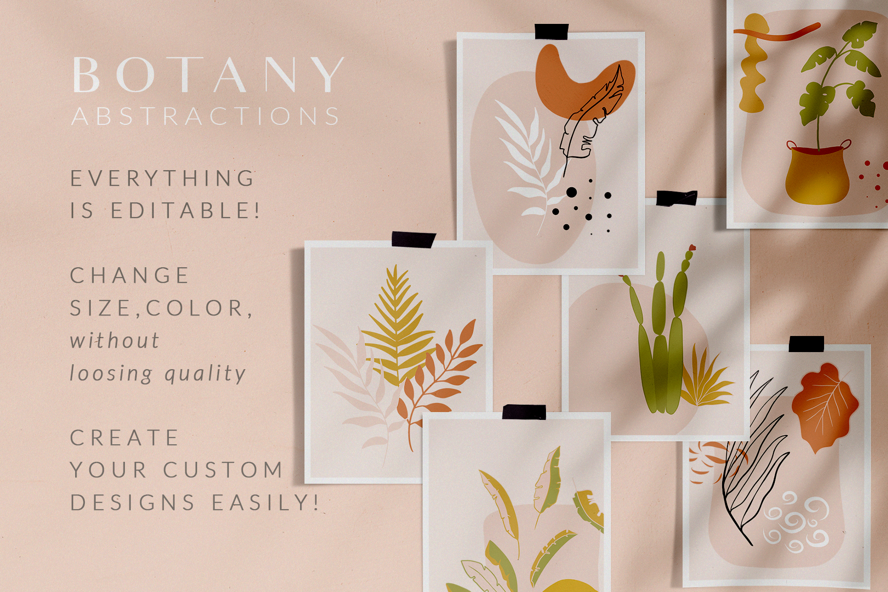Botanical Abstract Collection Leaves Tropics Summer example image 7