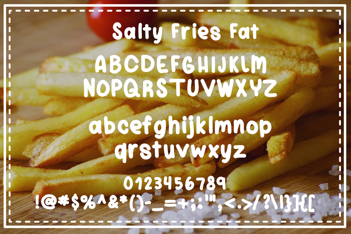 Salty Fries Font Trio example image 2