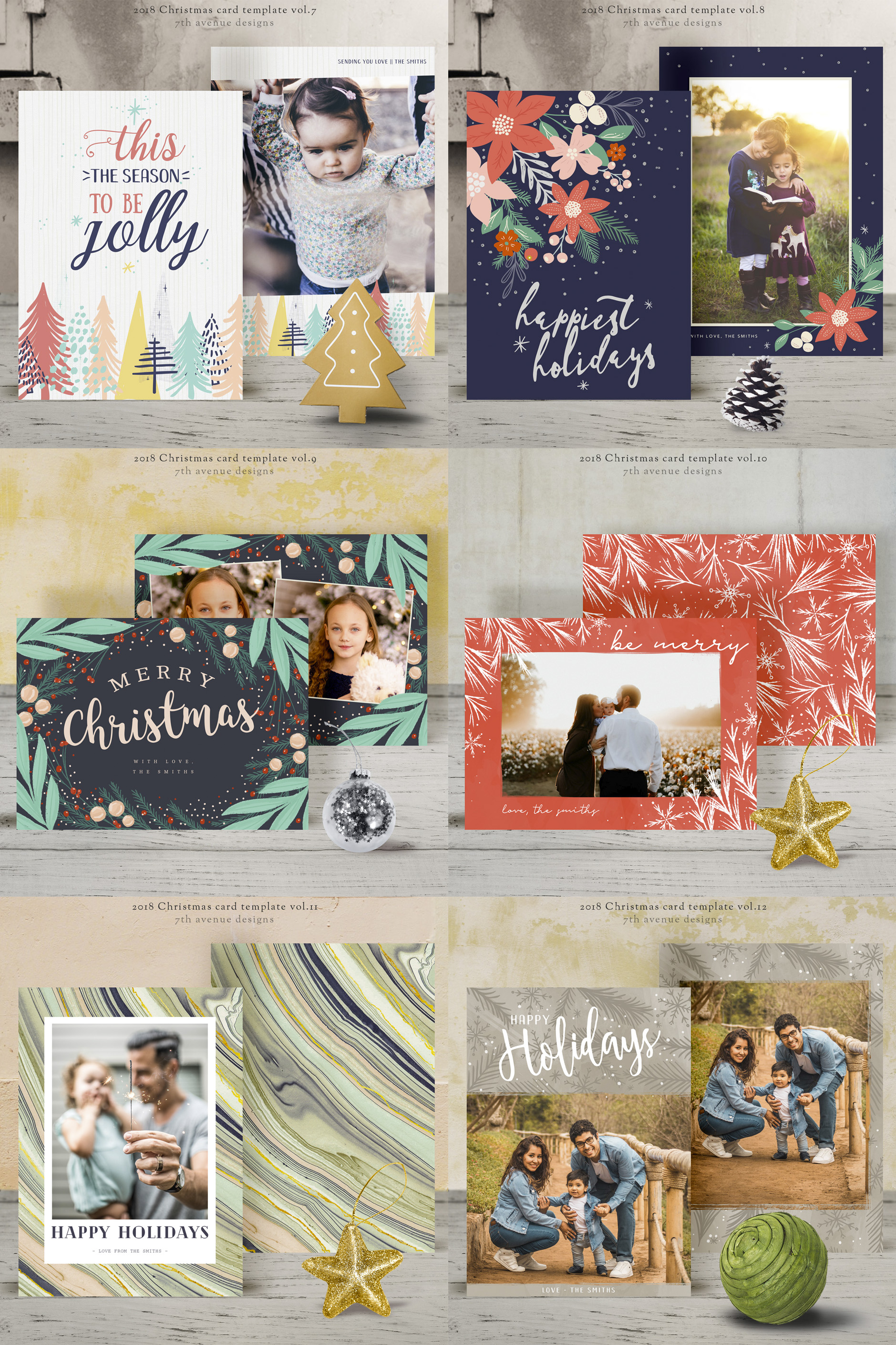 Christmas Card Templates v.3 example image 3