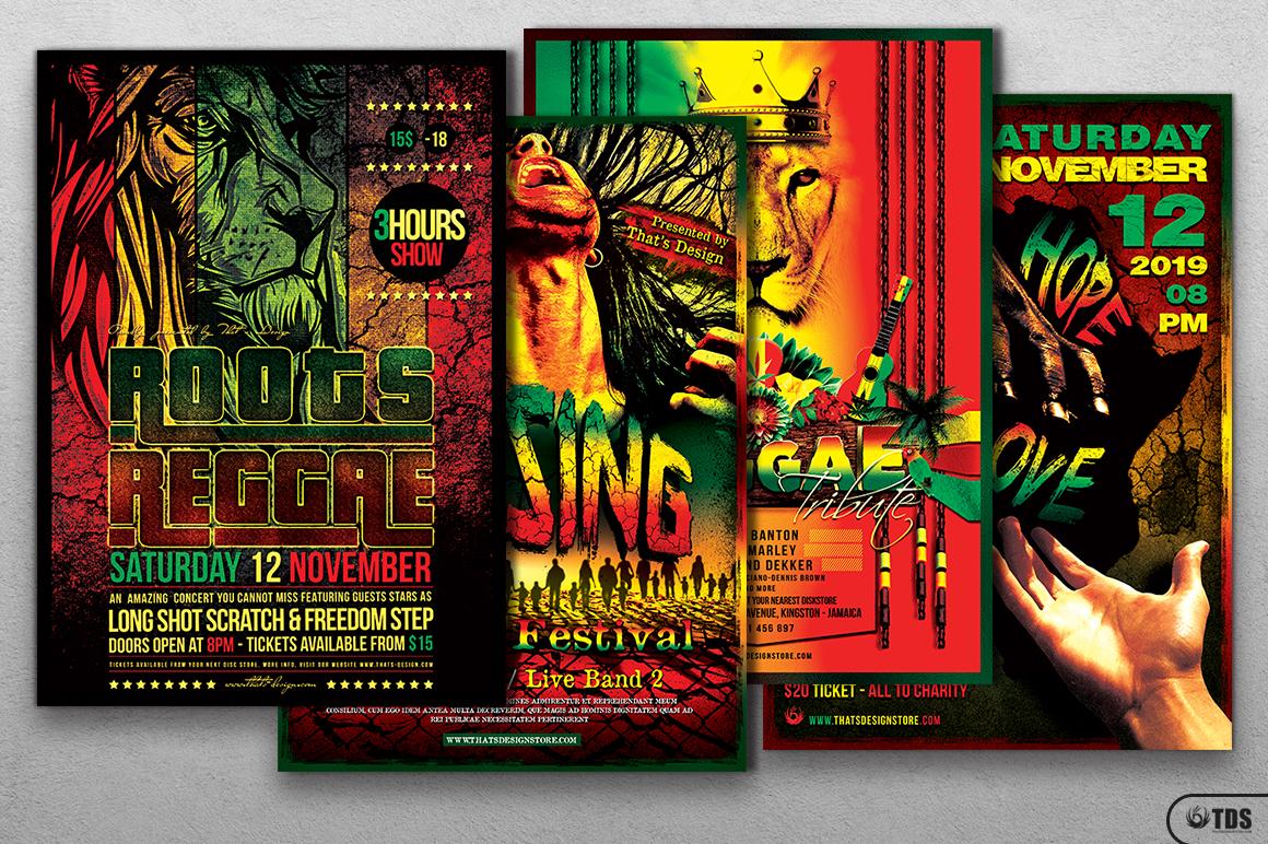 Reggae Flyer Bundle example image 1