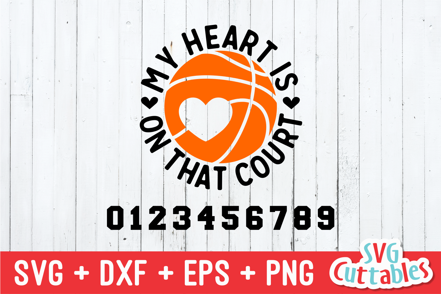 Basketball svg | My Heart Is On That Court example image 2