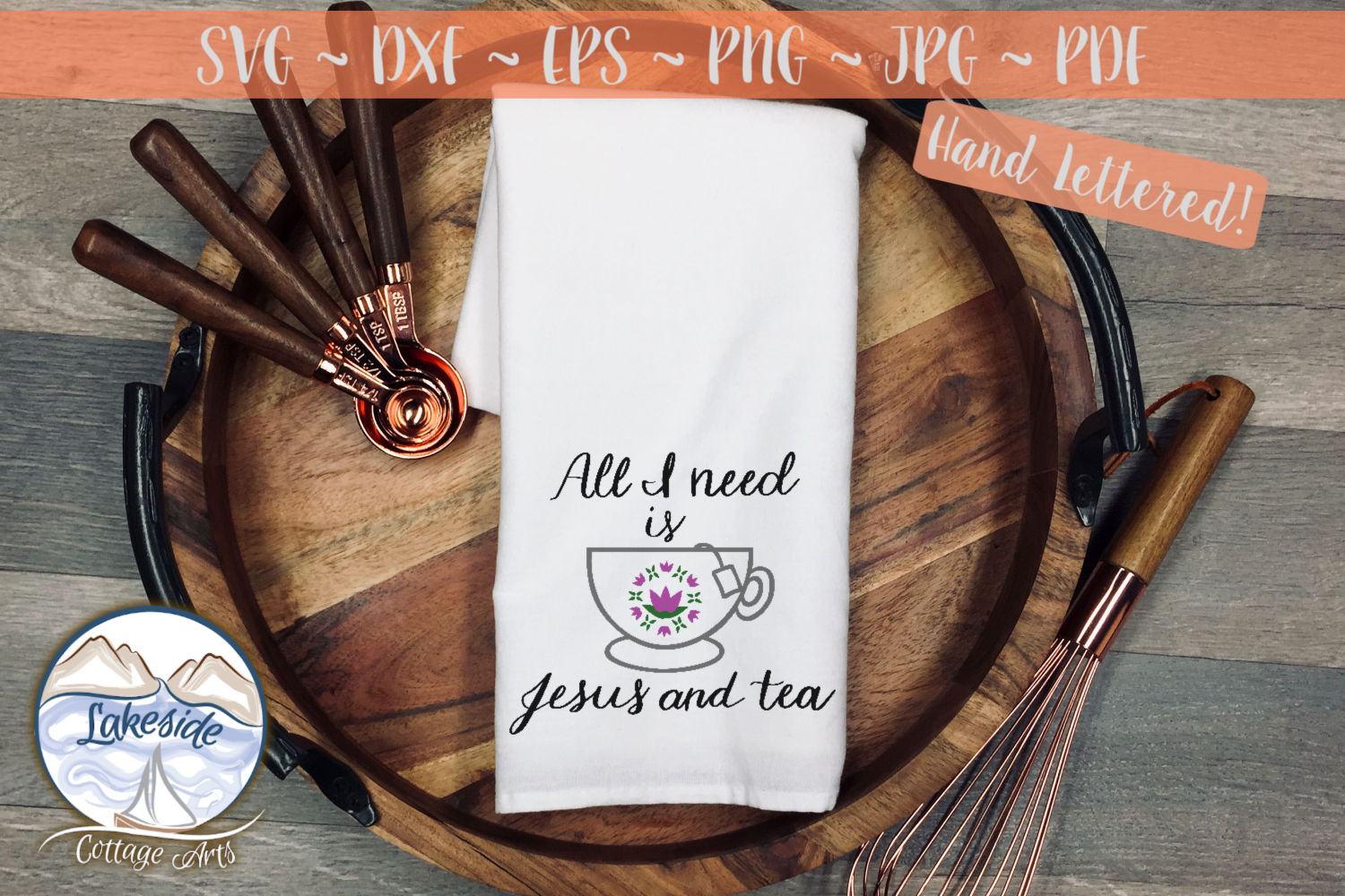 All I Need is Jesus and Tea- Religion svg dxf example image 1
