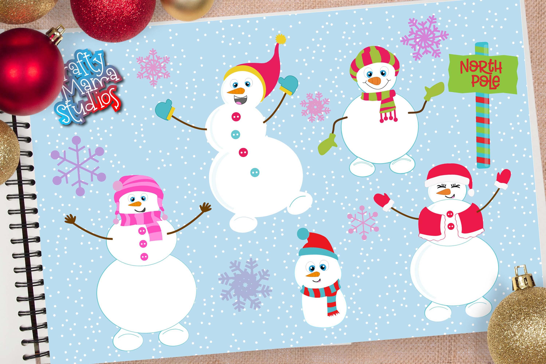 Snowman Bundle SVG, Sublimation, Snowflake SVG, Winter example image 1