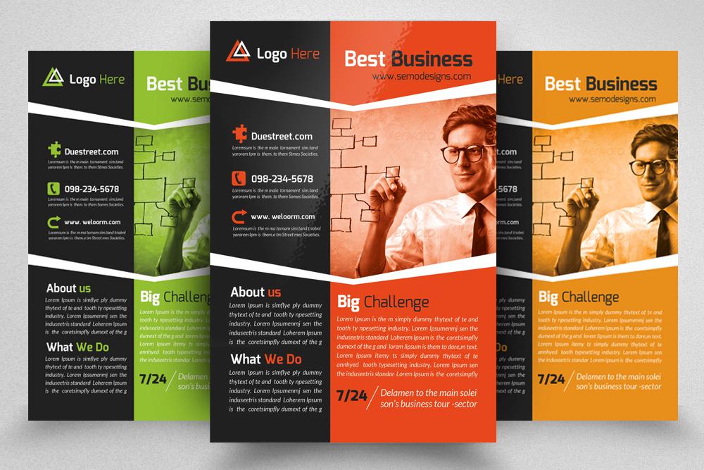 6 Corporate Business Flyers Bundle example image 6