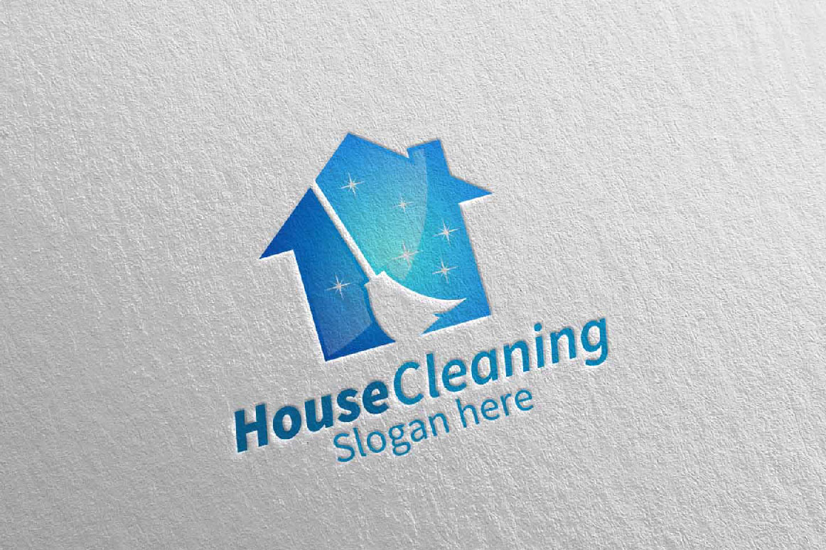 House Cleaning Service Logo Design example image 3