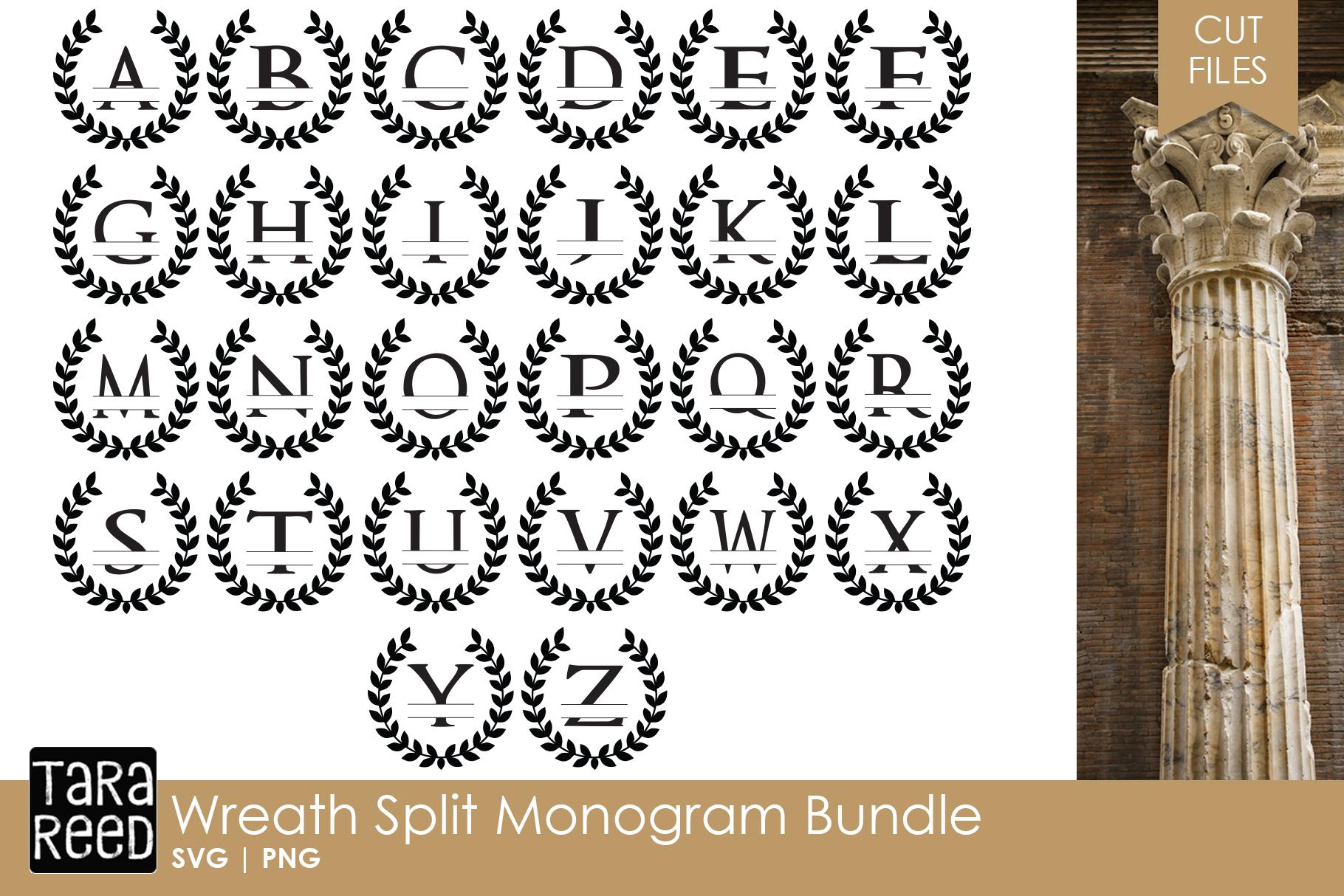 Download Wreath Split Monogram Bundle