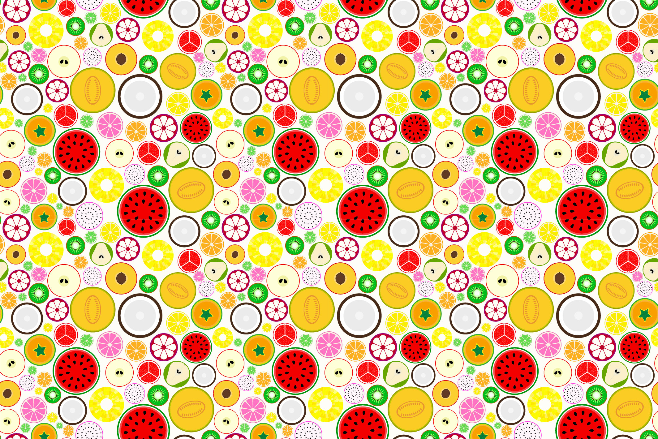 Fruit seamless patterns. Swatches. example image 9