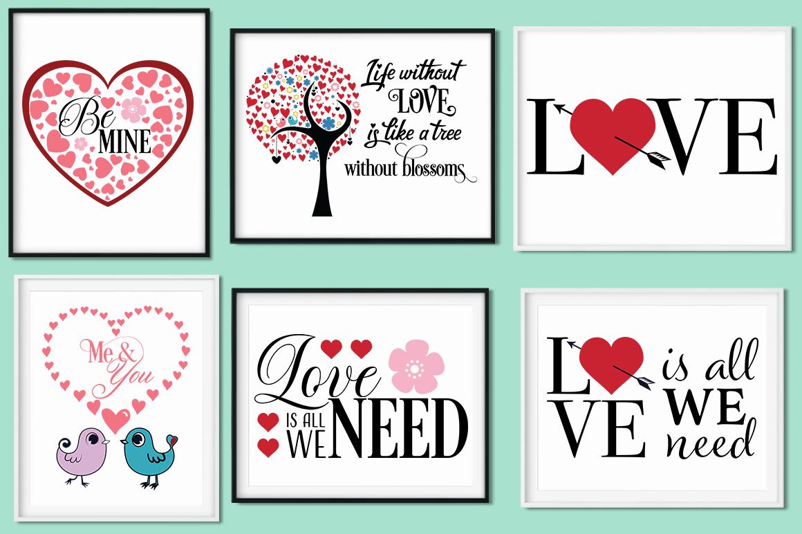 Love Quotes Bundle - Valentine SVG Cut Files example image 5