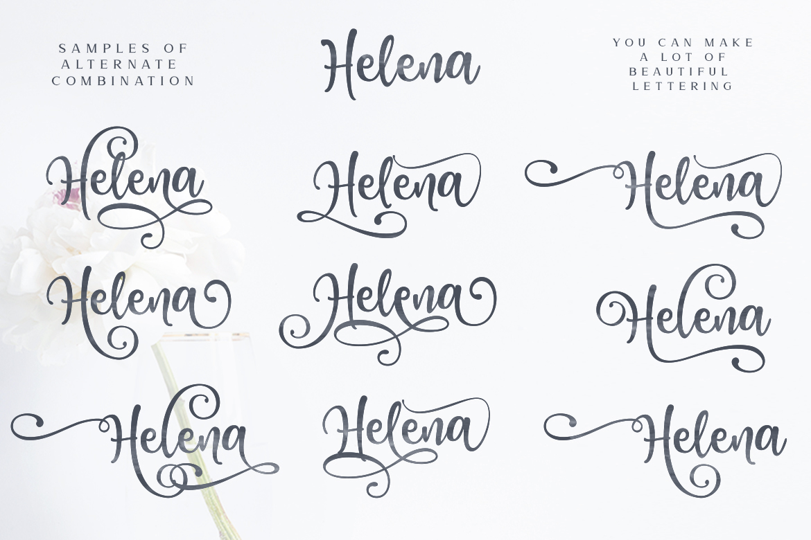 Honey Butter Font Trio & 260 Vectors example image 9