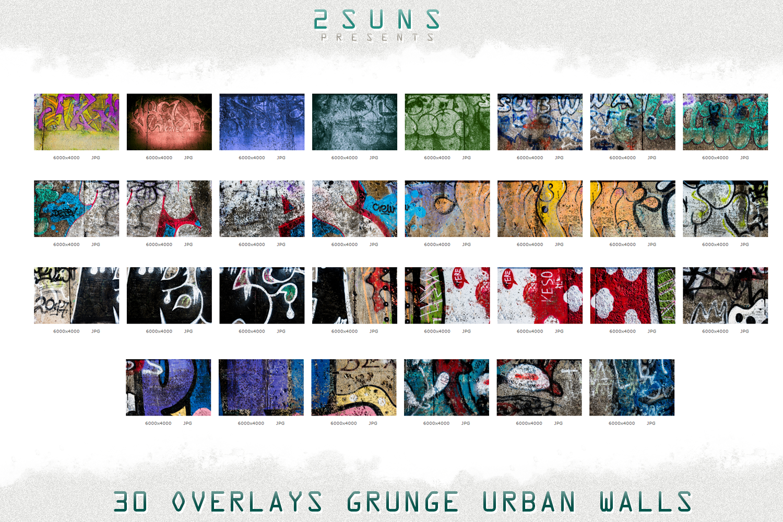 30 Urban grunge walls overlays graffity textures photo vol3 example image 4