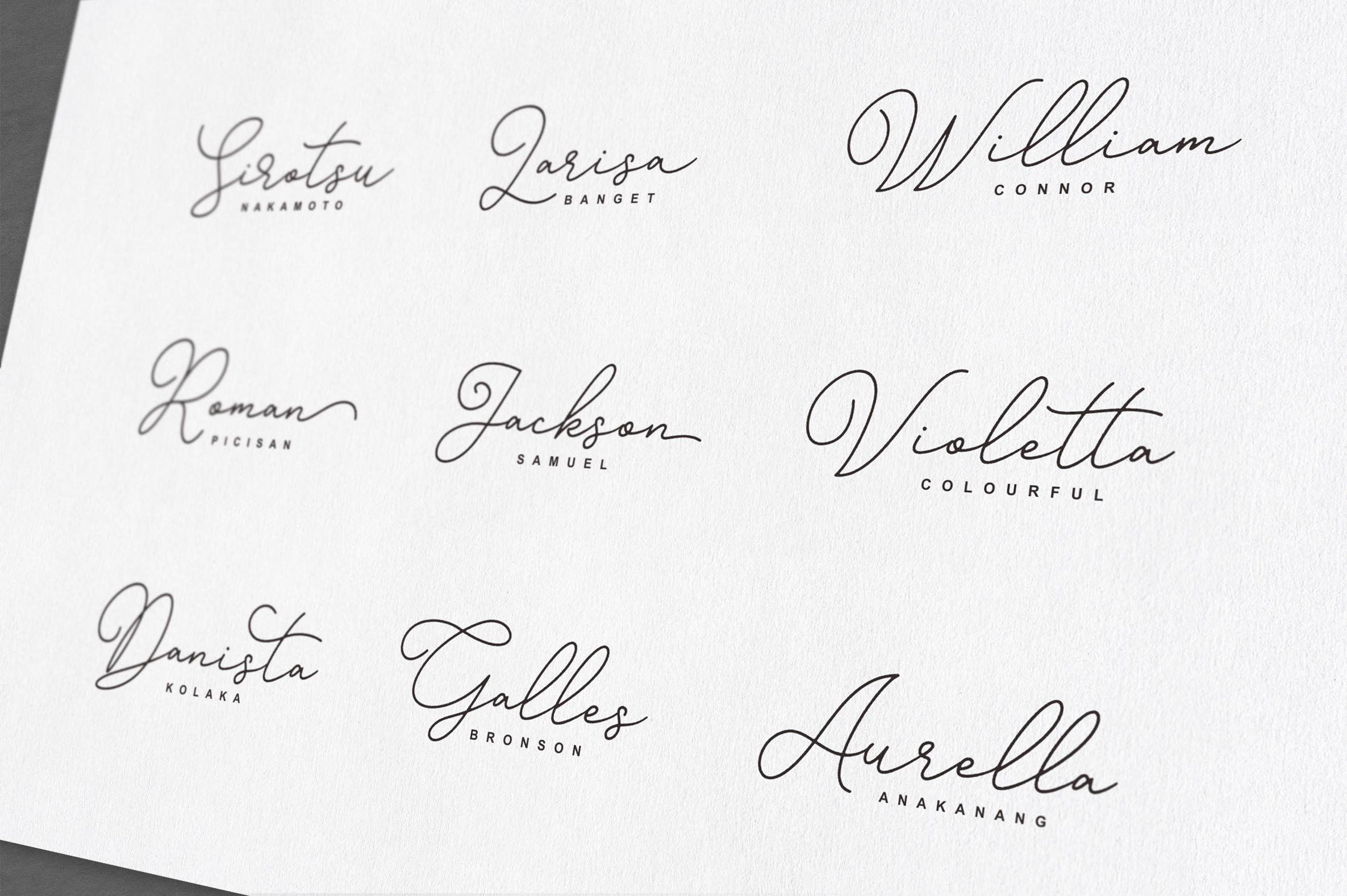 Gisellia Font Family example image 9