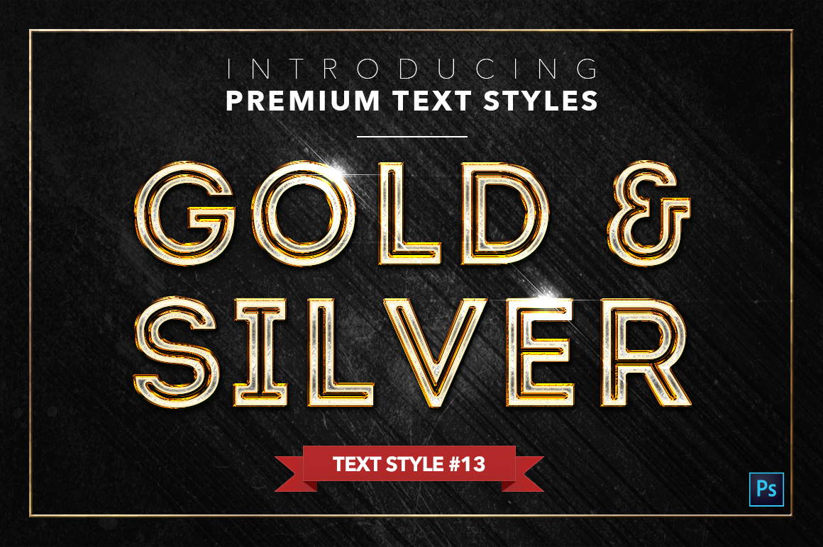 Gold & Silver #2 - 20 Text Styles example image 12