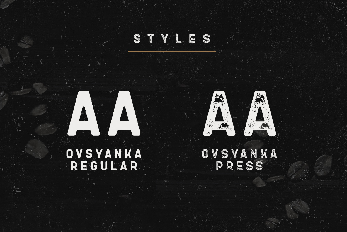 Ovsyanka Typeface example image 2