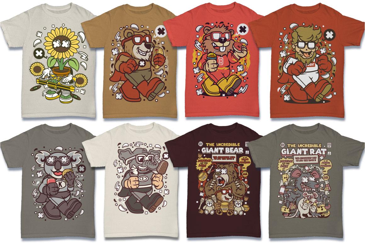 Cartoon Vector #6 Tshirt Design Bundle example image 26