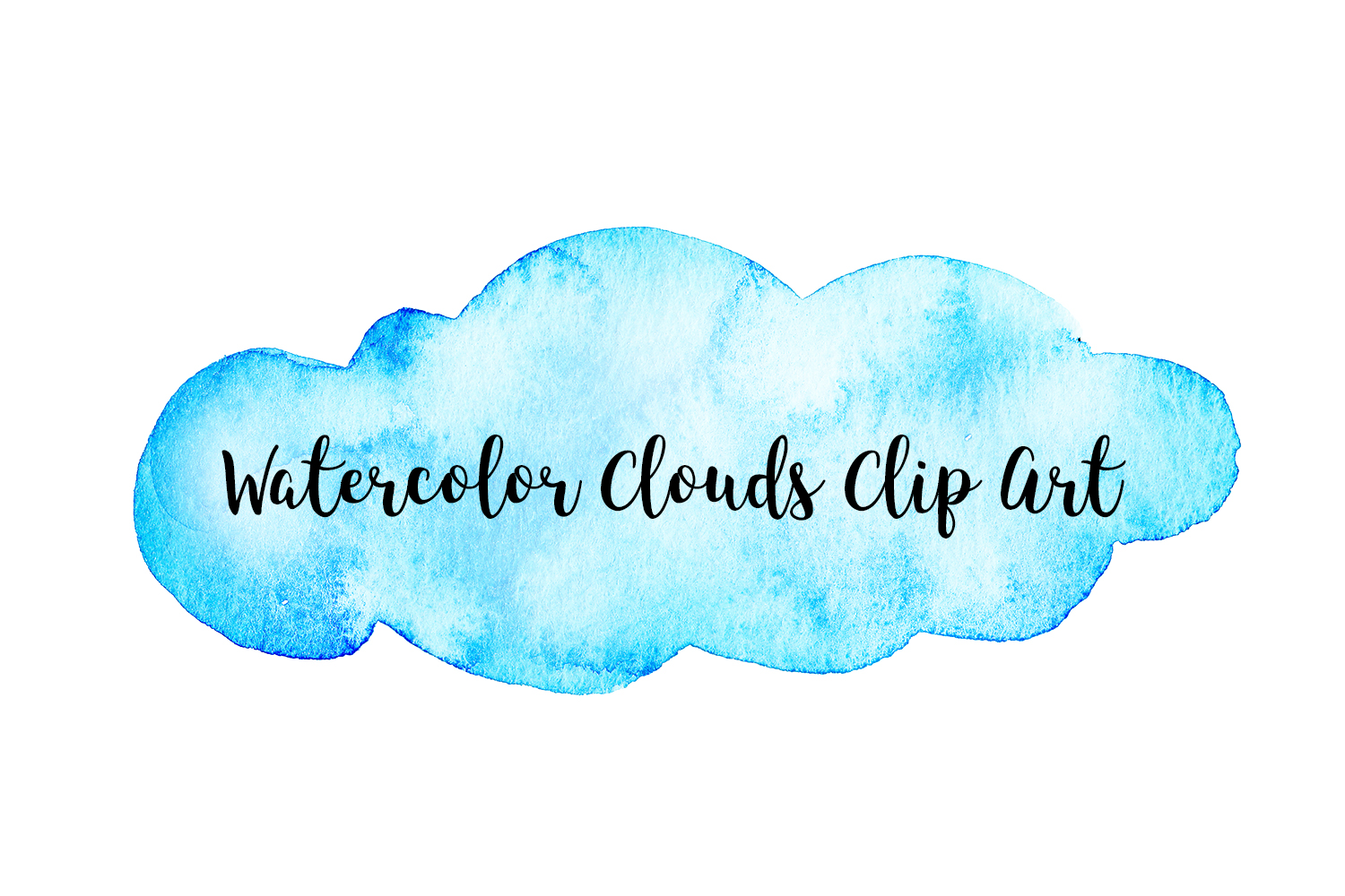 Watercolor Clouds Clip Art, Watercolor Clouds PNG example image 2