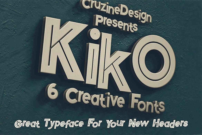 Kiko - Funny Display Font example image 3
