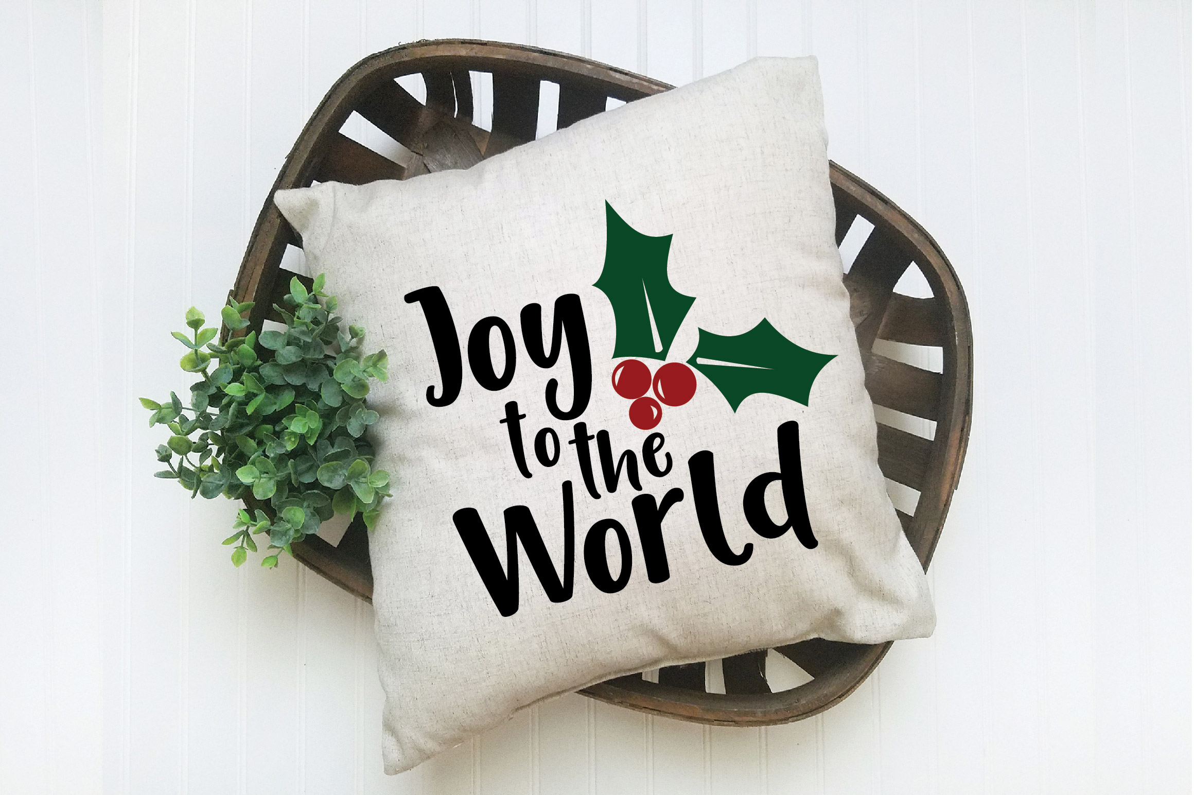Joy to the World SVG Cut File - Christmas SVG example image 6
