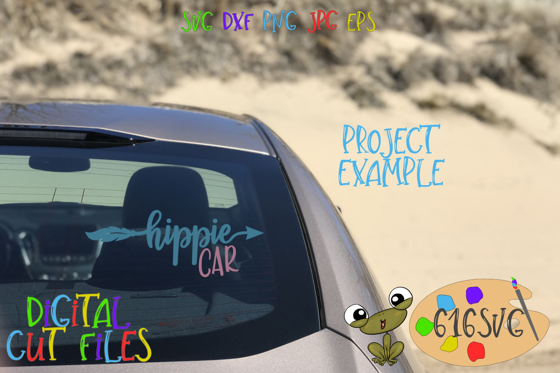 Hippie Car Hippie Van SVG example image 3