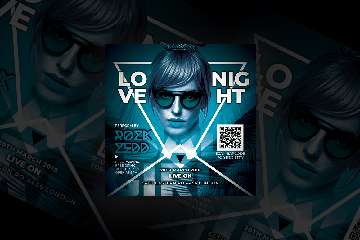 Love Night Party Flyer example image 1