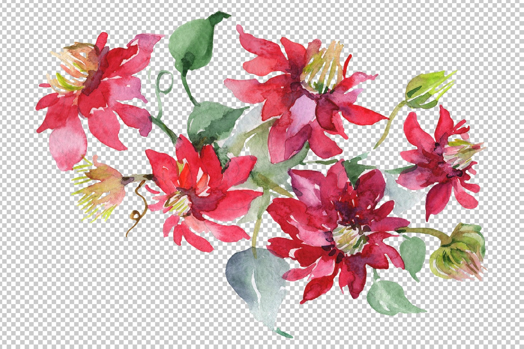 Bouquet Angelic flight Watercolor png example image 2