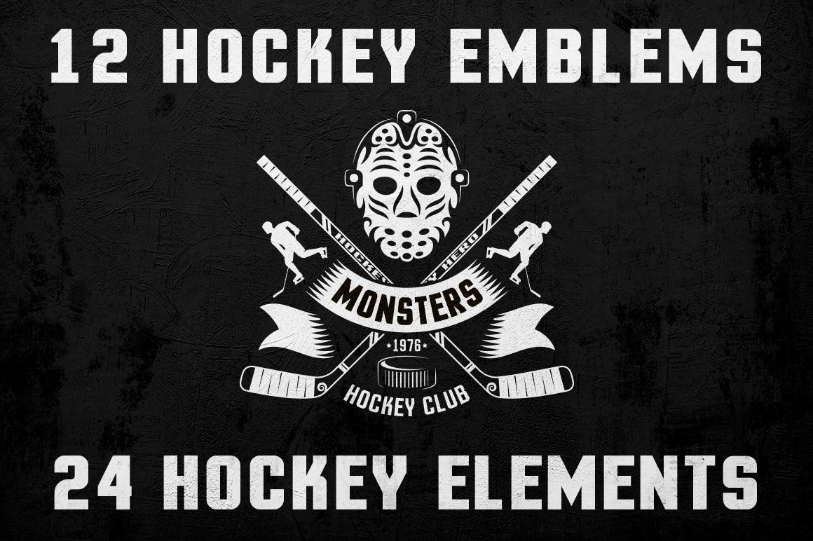 Hockey Logo on Dark example image 1