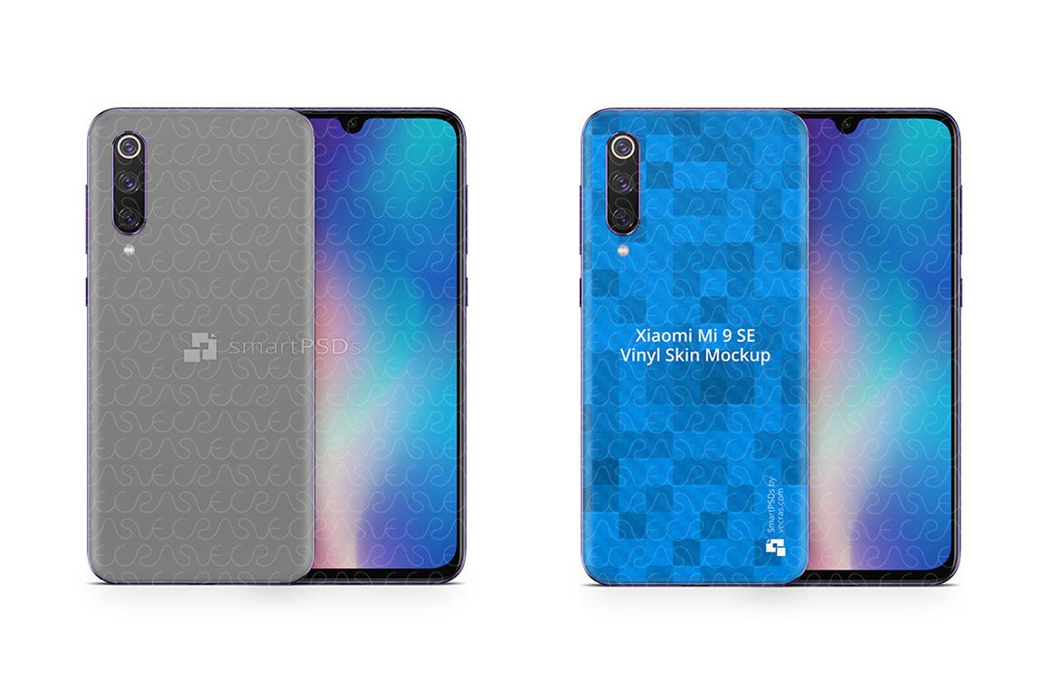 Xiaomi Mi9 SE 2019 PSD Skin Mockup Template example image 1