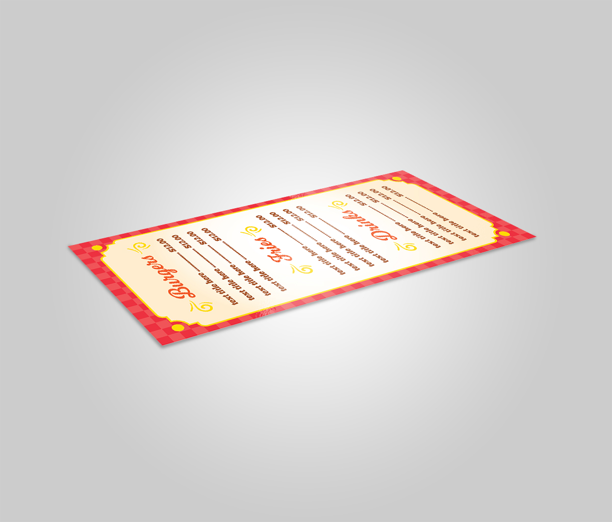Burger Restaurant Menu Template example image 3