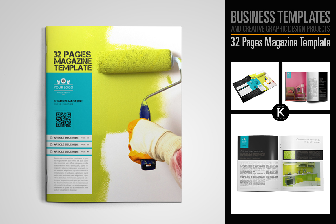 32 Pages Magazine Template example image 1