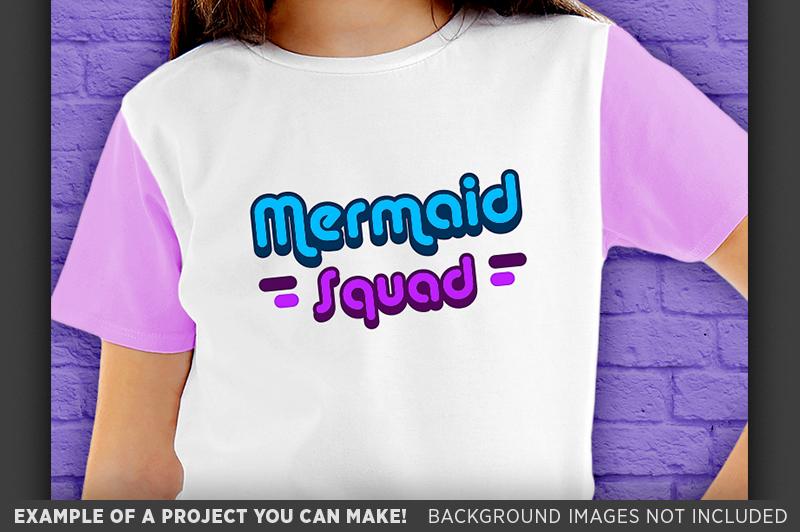 Mermaid Squad SVG File - Mermaid SVG File - 1063 example image 3